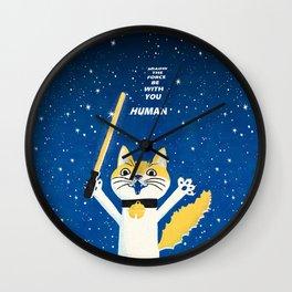 cat star war Wall Clock