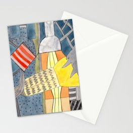 Interior with Two Lamps Stationery Cards
