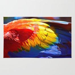Brazilian Scarlet Macaw Rug