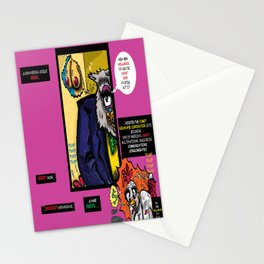 Bird of Steel Comix - Page #4 of 8 (Society 6 POP-ART COLLECTION SERIES)  Stationery Cards