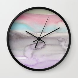 9    | Abstract Minimal Watercolor Painting | 191223 Wall Clock