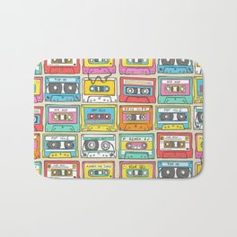 Nostalgia Audio Music Mix Cassette Tape Bath Mat