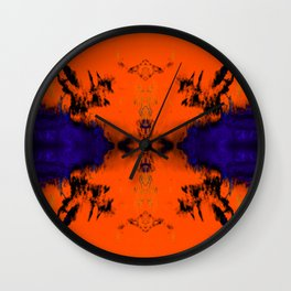 abstrackt blue/orange Wall Clock