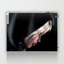 Hooded Girl Profile Portrait Laptop & iPad Skin