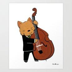 Norwich Terrier Jazz Musician (Dogs with Jobs series) Art Print