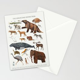 Animal chart of the Holocene extinction Stationery Cards