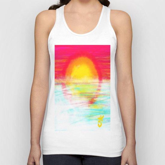 Sunset Sun Unisex Tank Top