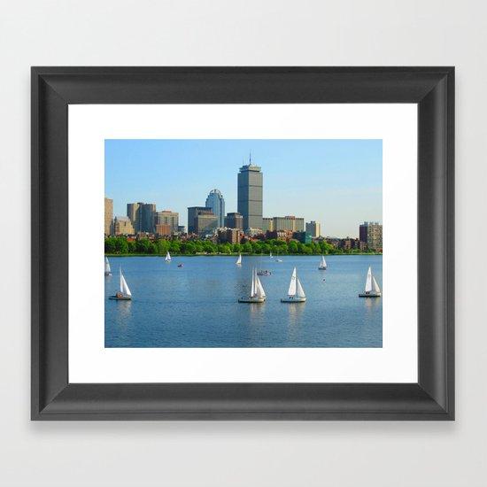 Boston in the Summer Framed Art Print