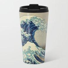 Great Wave Off Kanagawa (Kanagawa oki nami-ura or 神奈川沖浪裏) Metal Travel Mug