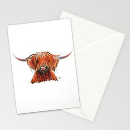 CoW PRiNT SCoTTiSH HiGHLaND ' CHaRLeY ' by SHiRLeY MacARTHuR Stationery Cards