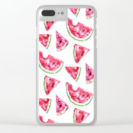 Watermelon Slice Clear iPhone Case