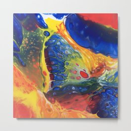 Blue lava Rock Metal Print