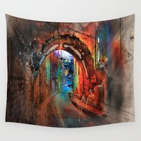 german Wall Tapestries featuring A German Lane by Robin Curtiss