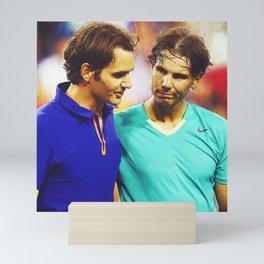 Federer & Nadal Tennis Mini Art Print