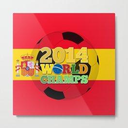 2014 World Champs Ball - Spain Metal Print