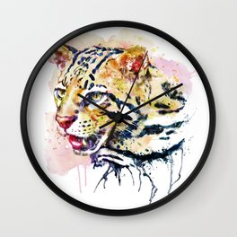 Ocelot Head Wall Clock