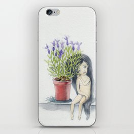 listening to the lavender's breath iPhone Skin