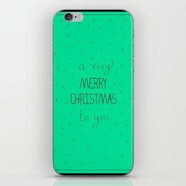 Merry Xmas iPhone Skin