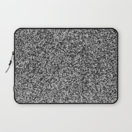 grayscale treemap mosaic - high contrast Laptop Sleeve