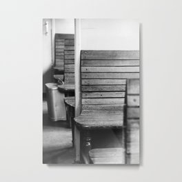 Old train compartment 2 - Altes Zugabteil 2 Metal Print