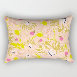Energizing spring summer flowers Rectangular Pillow