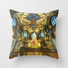 Tewkesbury At Christmas Throw Pillow