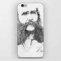 moustache iPhone & iPod Skins featuring Moustache by Paul Nelson-Esch Art
