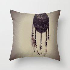 Wolf Dreamcatcher Throw Pillow