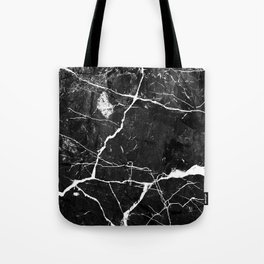 Charcoal Black Marble With White Chocolate Creamy Veins Tote Bag