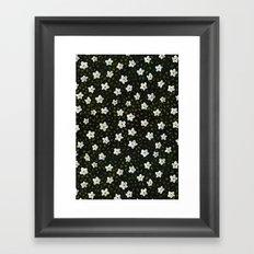 White Spring Flowers Framed Art Print