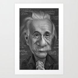 Einstien Art Print