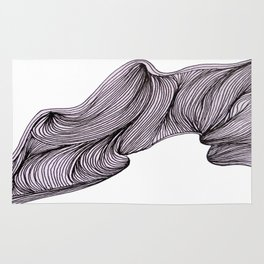 Abstract organic line drawing doodle Rug