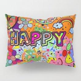 Happy Popart by Nico Bielow Pillow Sham