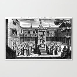 Mr. Latimer Preaching before King Edward VI at Westminster. Canvas Print