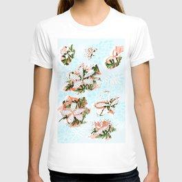 Watercolor Frangipani Abstract Print T-shirt
