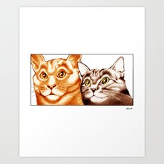 Cats : The Two of Us Art Print