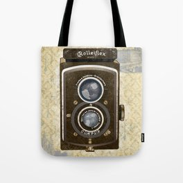 Yellow Vintage Camera Art Tote Bag