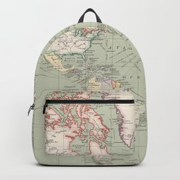 Vintage Map of The World (1915) Backpack