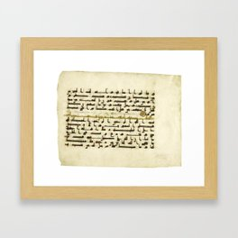 A Qur'an leaf in Kufic script on vellum, North Africa or Near East, 9th century AD 2 Framed Art Print