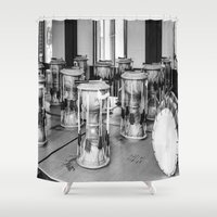 drums Shower Curtains featuring Traditional Jaangu_Korean Drums by Jennifer Stinson