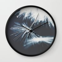 indigo Wall Clocks featuring indigo by Ingrid Beddoes
