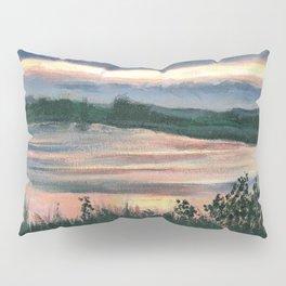 Summer Sunset at Baker Wetlands Painting Pillow Sham