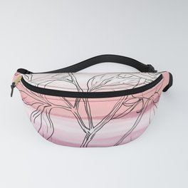 Magnolia on watercolour Fanny Pack