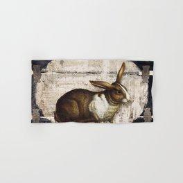 Vintage French Farm Sign Rabbit Hand & Bath Towel