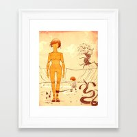 wooden Framed Art Prints featuring Wooden by Kam Redlawsk
