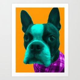 Boba Boston Orange Art Print