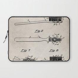 Toothbrush Patent - Bathroom Art - Antique Laptop Sleeve