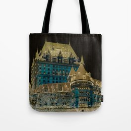 inverted Chateau Frontenac Tote Bag