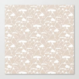 Mountain Scene in Beige Canvas Print
