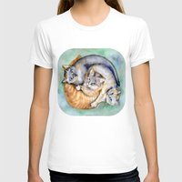 cuddle T-shirts featuring Cuddle Cats by Lucy's Visual Fling
